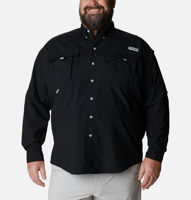 Bahama™ II L/S Shirt | 010 | 4X Men's PFG Bahama™ II Long Sleeve Shirt - Big, Black, front