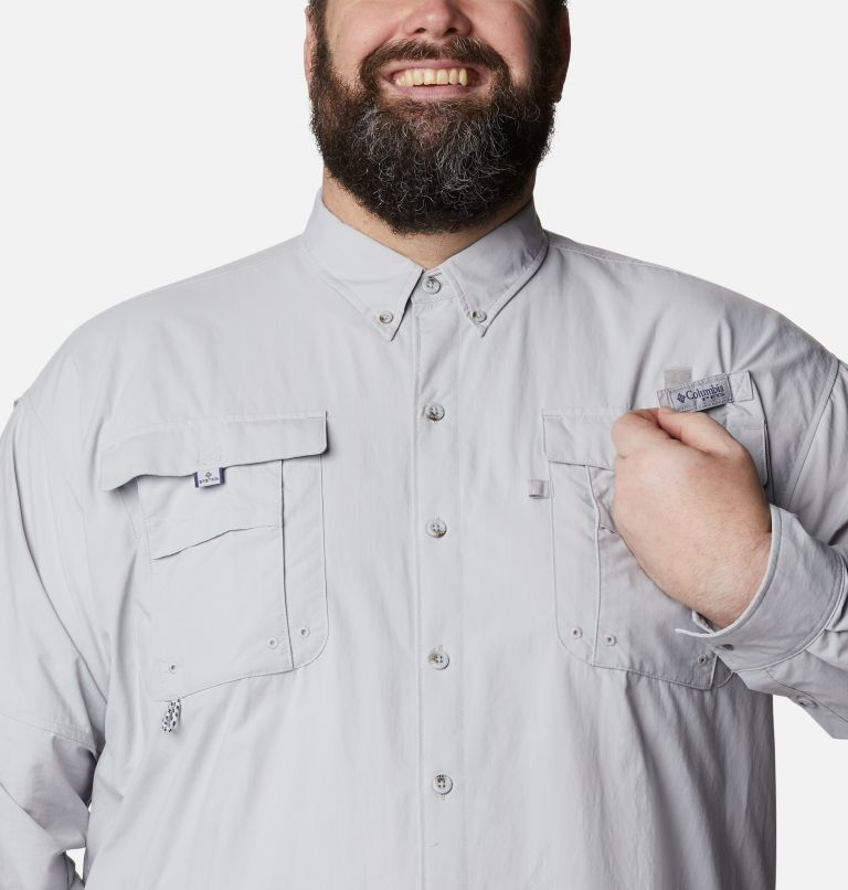 Bahama™ II L/S Shirt | 019 | 5X Men's PFG Bahama™ II Long Sleeve Shirt - Big, Cool Grey, a2