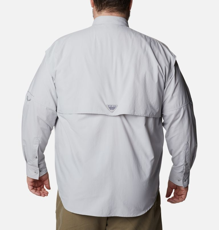 Bahama™ II L/S Shirt | 019 | 3X Men's PFG Bahama™ II Long Sleeve Shirt - Big, Cool Grey, back