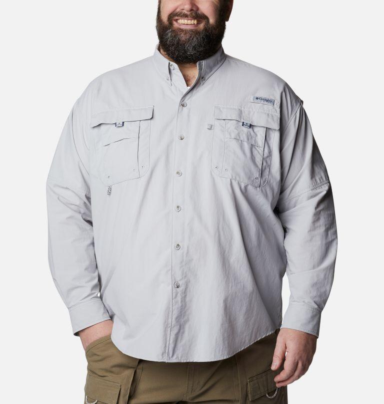 Bahama™ II L/S Shirt | 019 | 5X Men's PFG Bahama™ II Long Sleeve Shirt - Big, Cool Grey, front