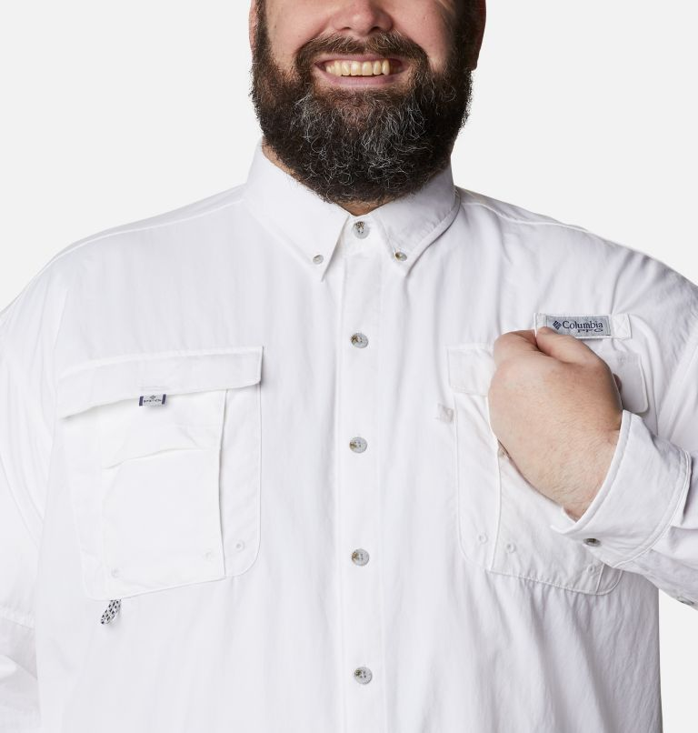 Bahama™ II L/S Shirt | 100 | 1X Men's PFG Bahama™ II Long Sleeve Shirt - Big, White, a2