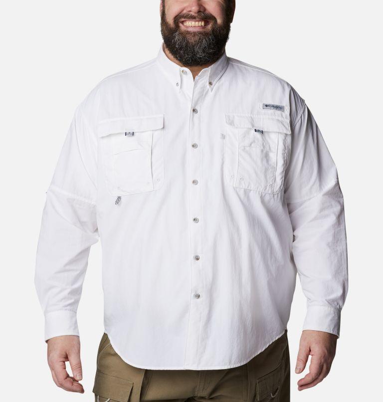 Bahama™ II L/S Shirt | 100 | 6X Men's PFG Bahama™ II Long Sleeve Shirt - Big, White, front