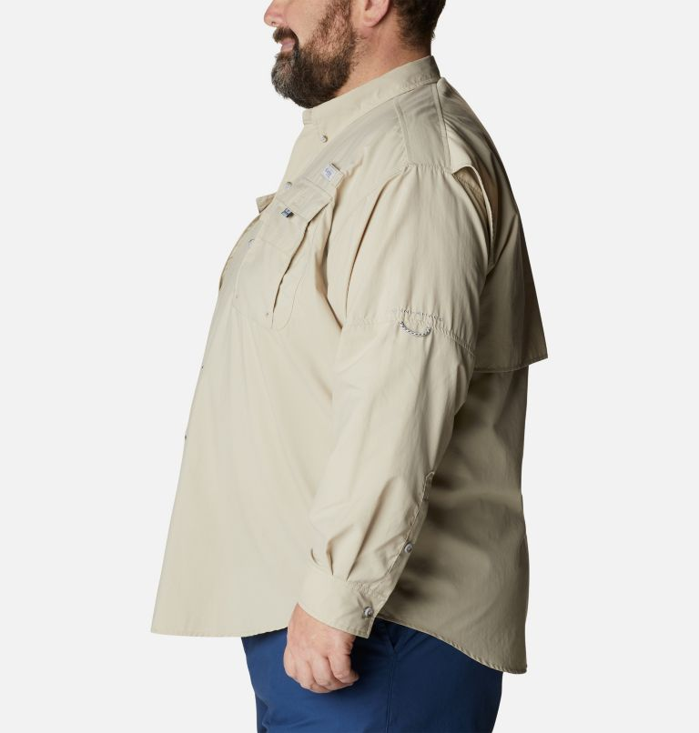 Bahama™ II L/S Shirt | 160 | 4X Men's PFG Bahama™ II Long Sleeve Shirt - Big, Fossil, a1