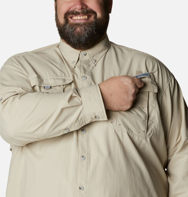Bahama™ II L/S Shirt | 160 | 4X Men's PFG Bahama™ II Long Sleeve Shirt - Big, Fossil, a2