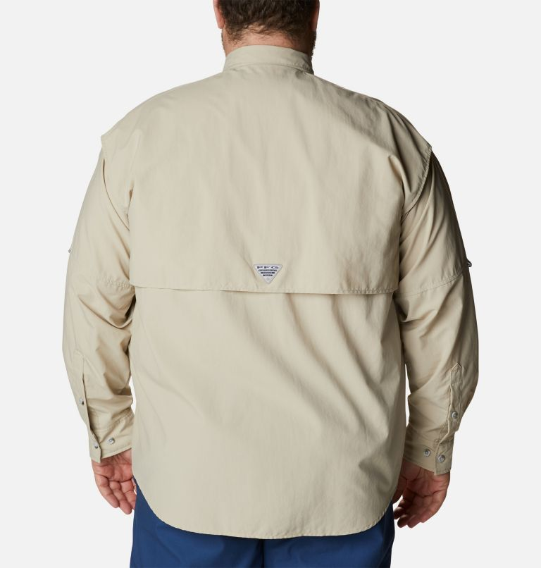 Bahama™ II L/S Shirt | 160 | 4X Men's PFG Bahama™ II Long Sleeve Shirt - Big, Fossil, back