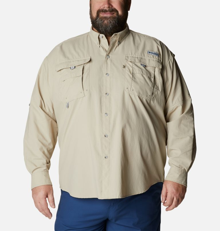 Bahama™ II L/S Shirt | 160 | 4X Men's PFG Bahama™ II Long Sleeve Shirt - Big, Fossil, front