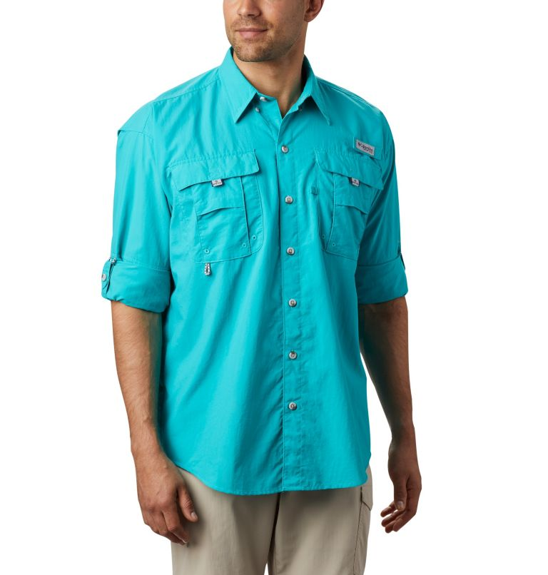 Bahama™ II L/S Shirt | 456 | 3X Men's PFG Bahama™ II Long Sleeve Shirt - Big, Bright Aqua, a1