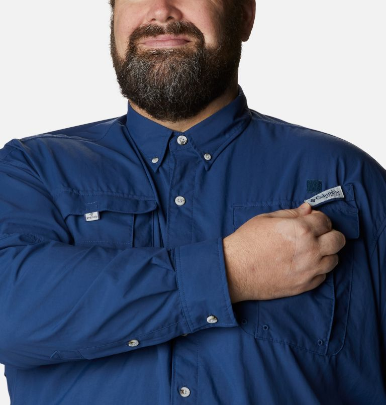 Bahama™ II L/S Shirt | 469 | 5X Men's PFG Bahama™ II Long Sleeve Shirt - Big, Carbon, a2