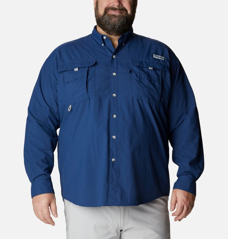 Bahama™ II L/S Shirt | 469 | 5X Men's PFG Bahama™ II Long Sleeve Shirt - Big, Carbon, front