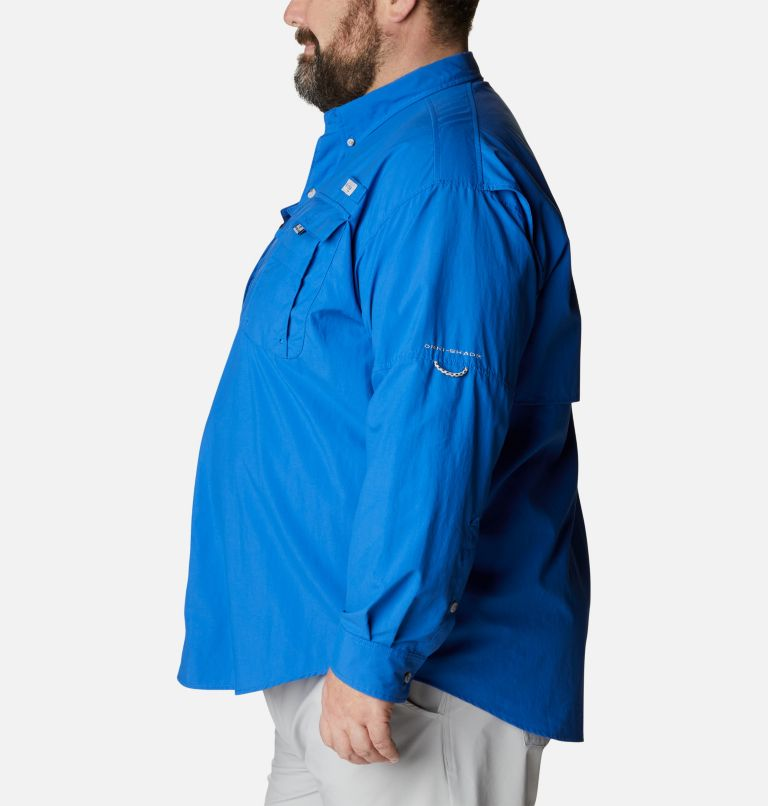 Bahama™ II L/S Shirt | 487 | 4X Men's PFG Bahama™ II Long Sleeve Shirt - Big, Vivid Blue, a1