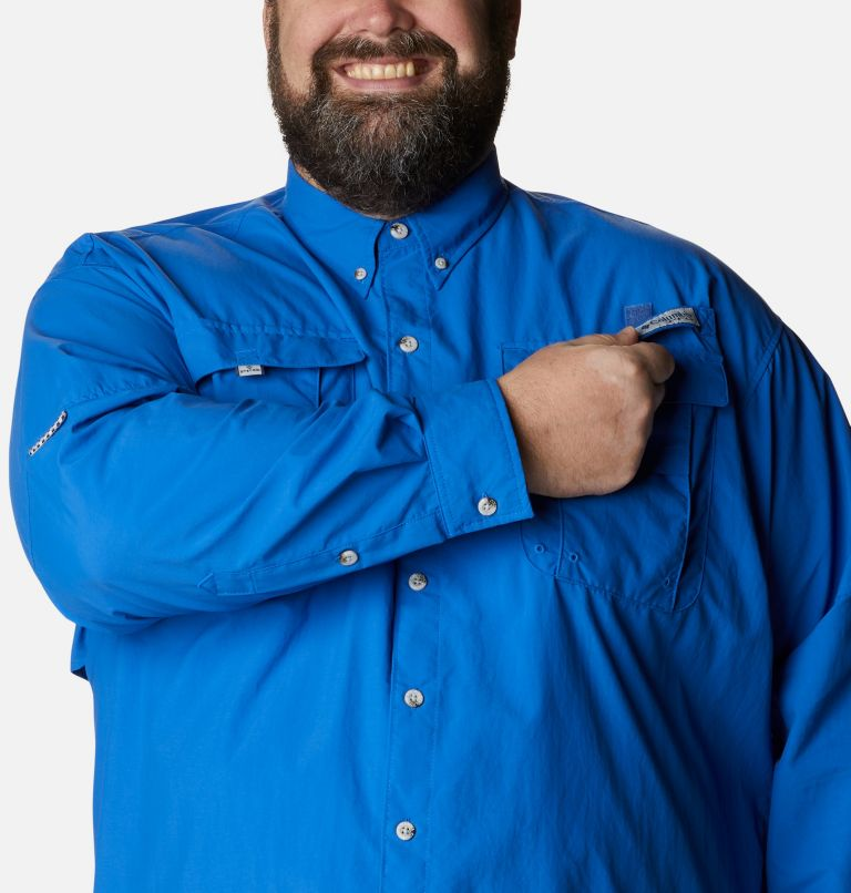 Bahama™ II L/S Shirt | 487 | 4X Men's PFG Bahama™ II Long Sleeve Shirt - Big, Vivid Blue, a2