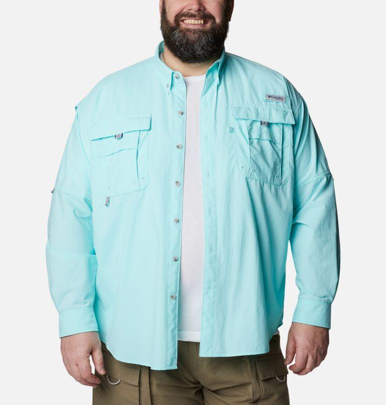 Bahama™ II L/S Shirt | 499 | 2X Men's PFG Bahama™ II Long Sleeve Shirt - Big, Gulf Stream, front