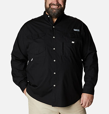 Men's PFG Bonehead™ Long Sleeve Shirt - Big Bonehead™ LS Shirt | 019 | 6X, Black, front