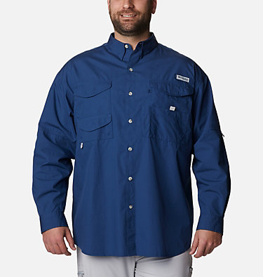 Men's PFG Bonehead™ Long Sleeve Shirt - Big Bonehead™ LS Shirt | 019 | 6X, Carbon, front
