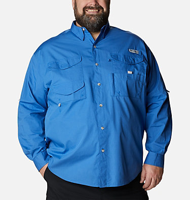 Men's PFG Bonehead™ Long Sleeve Shirt - Big Bonehead™ LS Shirt | 019 | 6X, Vivid Blue, front