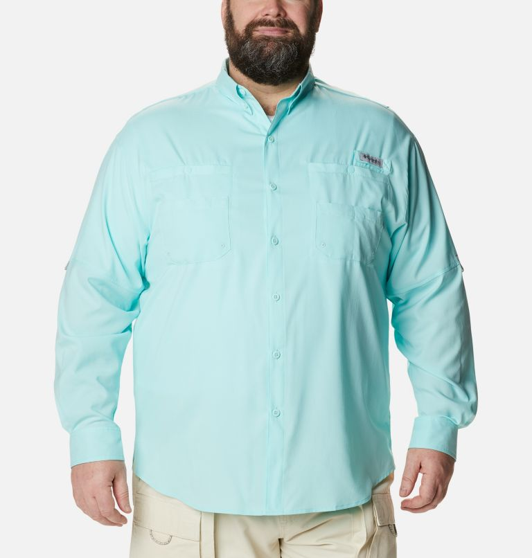 Tamiami™ II LS Shirt | 499 | 6X Men's PFG Tamiami™ II Long Sleeve Shirt - Big, Gulf Stream, front