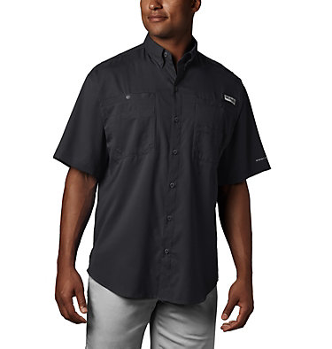 Men's PFG Tamiami™ II Short Sleeve Shirt - Big Tamiami™ II SS Shirt | 479 | 4X, Black, front