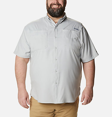 Men's PFG Tamiami™ II Short Sleeve Shirt - Big Tamiami™ II SS Shirt | 479 | 4X, Cool Grey, front