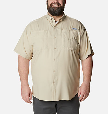 Men's PFG Tamiami™ II Short Sleeve Shirt - Big Tamiami™ II SS Shirt | 479 | 4X, Fossil, front