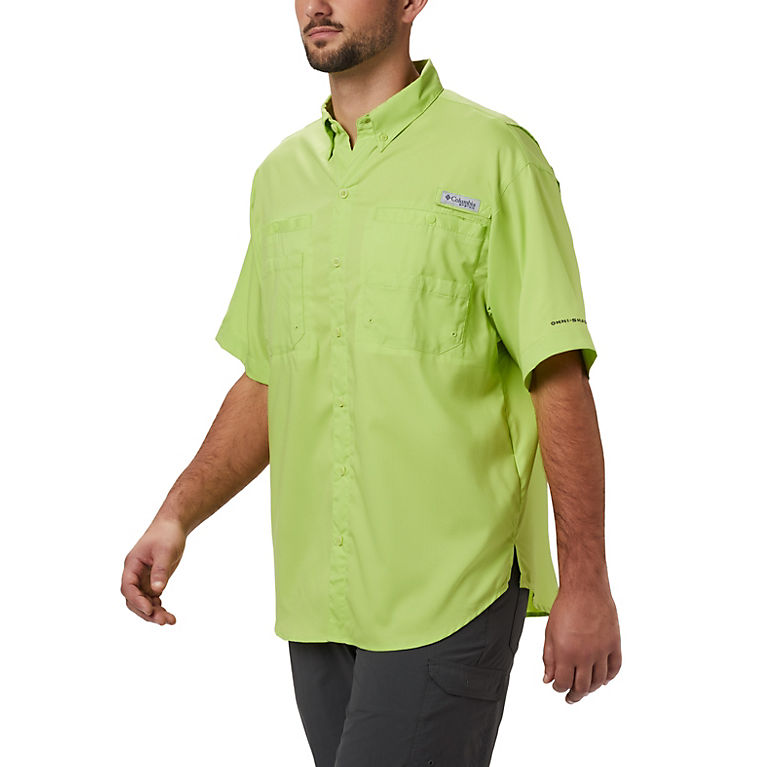 4458f17f38669 Green Glow Men's PFG Tamiami™ II Short Sleeve Shirt — Big, View 0