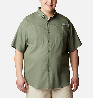 Men's PFG Tamiami™ II Short Sleeve Shirt - Big Tamiami™ II SS Shirt | 479 | 4X, Cypress, front