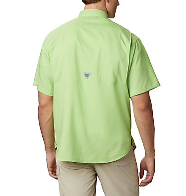 Men's PFG Tamiami™ II Short Sleeve Shirt - Big Tamiami™ II SS Shirt | 332 | 1X, Jade Lime, back