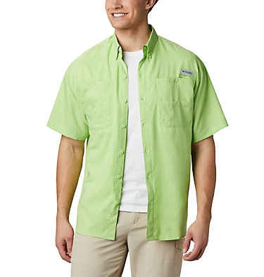 Men's PFG Tamiami™ II Short Sleeve Shirt - Big Tamiami™ II SS Shirt | 479 | 4X, Jade Lime, front