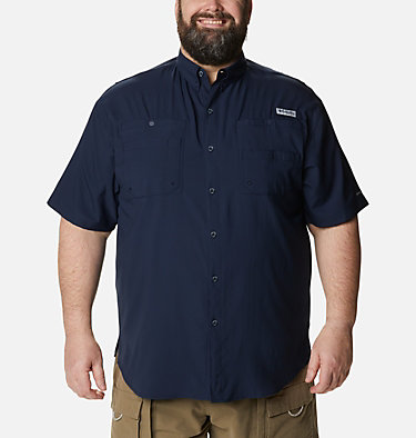 Men's PFG Tamiami™ II Short Sleeve Shirt - Big Tamiami™ II SS Shirt | 479 | 4X, Collegiate Navy, front