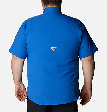 Men's PFG Tamiami™ II Short Sleeve Shirt - Big Tamiami™ II SS Shirt | 479 | 4X, Vivid Blue, back