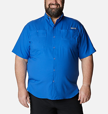 Men's PFG Tamiami™ II Short Sleeve Shirt - Big Tamiami™ II SS Shirt | 479 | 4X, Vivid Blue, front