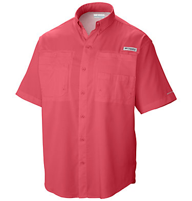 Men's PFG Tamiami™ II Short Sleeve Shirt - Big Tamiami™ II SS Shirt | 479 | 4X, Sunset Red, front