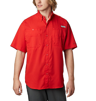 Men's PFG Tamiami™ II Short Sleeve Shirt - Big Tamiami™ II SS Shirt | 479 | 4X, Red Spark, front