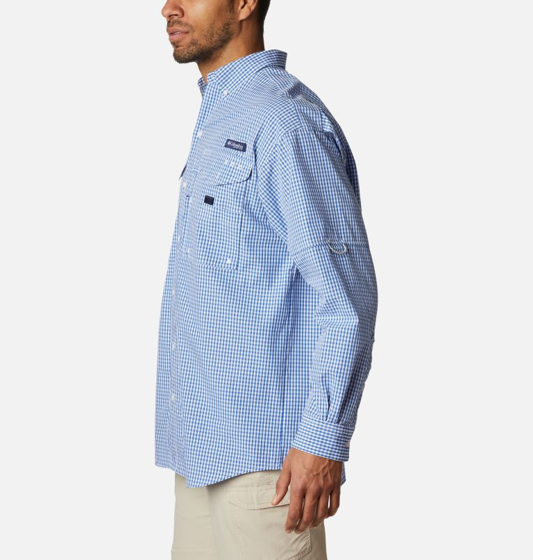 Super Bonehead Classic™ LS Shirt | 507 | 4X Men's PFG Super Bonehead Classic™ Long Sleeve Shirt - Big, Vivid Blue Gingham, a1