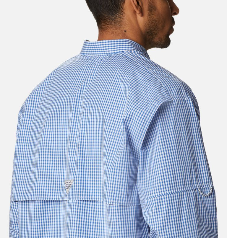 Super Bonehead Classic™ LS Shirt | 507 | 4X Men's PFG Super Bonehead Classic™ Long Sleeve Shirt - Big, Vivid Blue Gingham, a3