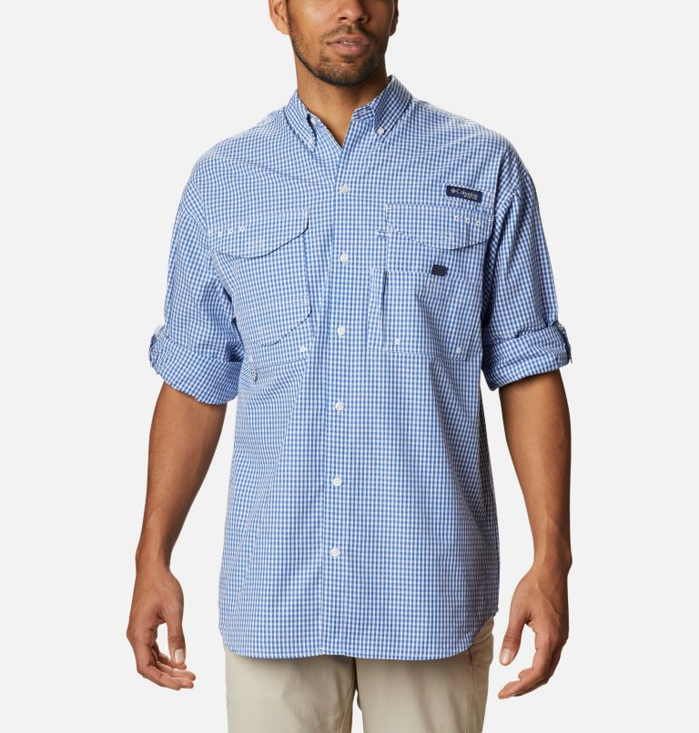 Super Bonehead Classic™ LS Shirt | 507 | 4X Men's PFG Super Bonehead Classic™ Long Sleeve Shirt - Big, Vivid Blue Gingham, a4