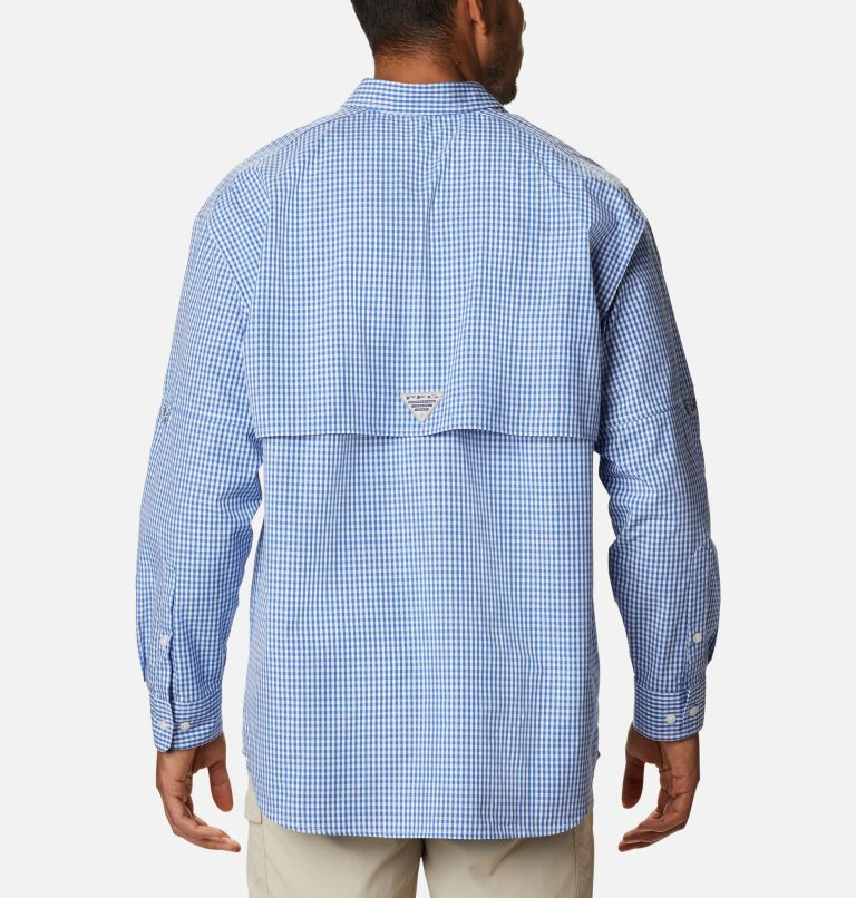 Super Bonehead Classic™ LS Shirt | 507 | 4X Men's PFG Super Bonehead Classic™ Long Sleeve Shirt - Big, Vivid Blue Gingham, back