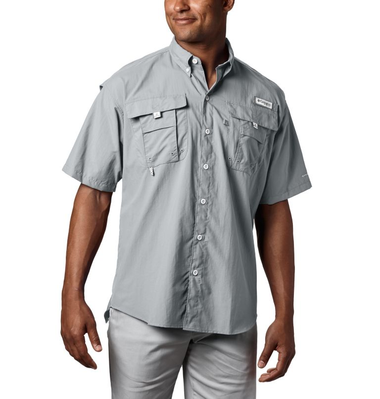 Bahama™ II S/S Shirt | 019 | XLT Men's PFG Bahama™ II Short Sleeve Shirt - Tall, Cool Grey, front