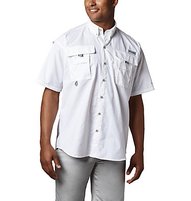 Men's PFG Bahama™ II Short Sleeve Shirt - Tall Bahama™ II S/S Shirt | 480 | 3XT, White, front