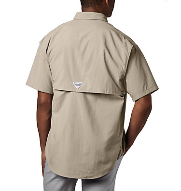 Men's PFG Bahama™ II Short Sleeve Shirt - Tall Bahama™ II S/S Shirt | 480 | 3XT, Fossil, back