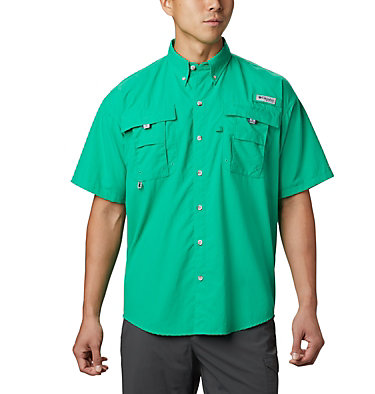 Men's PFG Bahama™ II Short Sleeve Shirt - Tall Bahama™ II S/S Shirt | 480 | 3XT, Dark Lime, front