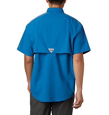 Men's PFG Bahama™ II Short Sleeve Shirt - Tall Bahama™ II S/S Shirt | 480 | 3XT, Dark Pool, back