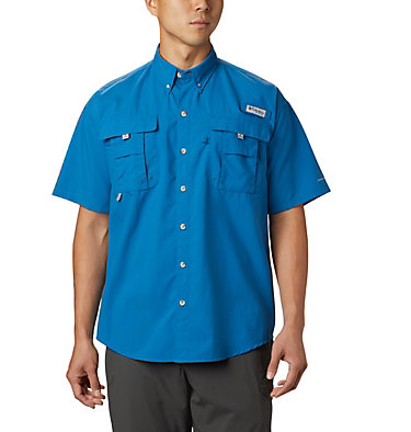 Men's PFG Bahama™ II Short Sleeve Shirt - Tall Bahama™ II S/S Shirt | 480 | 3XT, Dark Pool, front