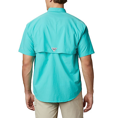 Men's PFG Bahama™ II Short Sleeve Shirt - Tall Bahama™ II S/S Shirt | 480 | 3XT, Bright Aqua, back