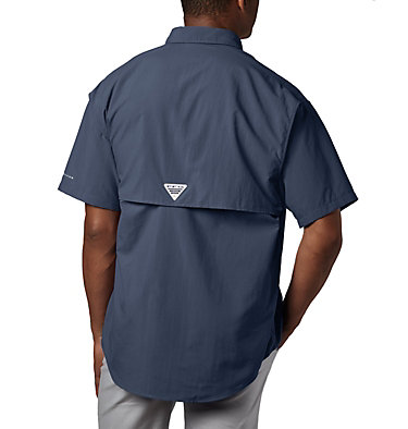 Men's PFG Bahama™ II Short Sleeve Shirt - Tall Bahama™ II S/S Shirt | 480 | 3XT, Collegiate Navy, back