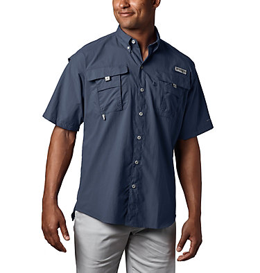 Men's PFG Bahama™ II Short Sleeve Shirt - Tall Bahama™ II S/S Shirt | 480 | 3XT, Collegiate Navy, front