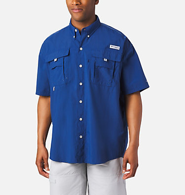 Men's PFG Bahama™ II Short Sleeve Shirt - Tall Bahama™ II S/S Shirt | 480 | 3XT, Carbon, front