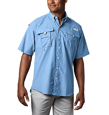 Men's PFG Bahama™ II Short Sleeve Shirt - Tall Bahama™ II S/S Shirt | 480 | 3XT, Sail, front