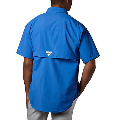 Men's PFG Bahama™ II Short Sleeve Shirt - Tall Bahama™ II S/S Shirt | 480 | 3XT, Vivid Blue, back