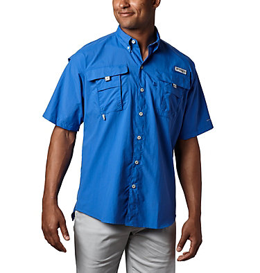Men's PFG Bahama™ II Short Sleeve Shirt - Tall Bahama™ II S/S Shirt | 480 | 3XT, Vivid Blue, front