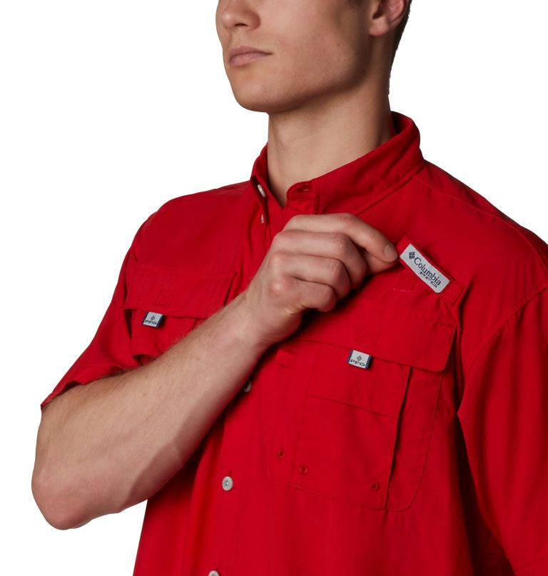 Bahama™ II S/S Shirt | 696 | XLT Men's PFG Bahama™ II Short Sleeve Shirt - Tall, Red Spark, a2